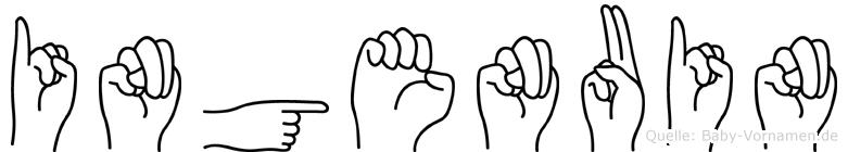 Ingenuin in Fingersprache für Gehörlose