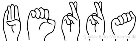 Berra in Fingersprache für Gehörlose