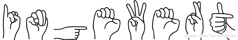 Ingewert im Fingeralphabet der Deutschen Gebärdensprache