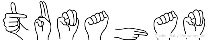 Tunahan im Fingeralphabet der Deutschen Gebärdensprache