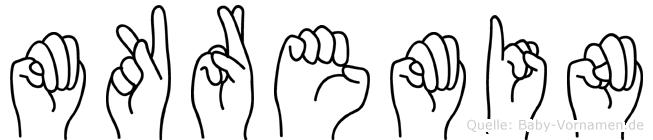 Mükremin im Fingeralphabet der Deutschen Gebärdensprache