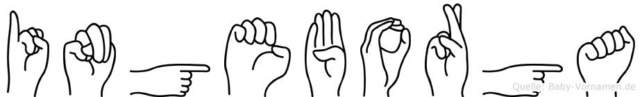 Ingeborga in Fingersprache für Gehörlose