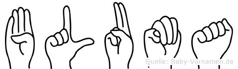 Bluma in Fingersprache für Gehörlose