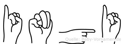Ingi im Fingeralphabet der Deutschen Gebärdensprache