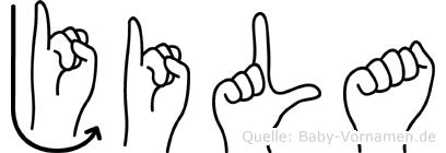 Jila in Fingersprache für Gehörlose