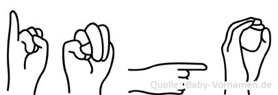 Ingo im Fingeralphabet der Deutschen Gebärdensprache