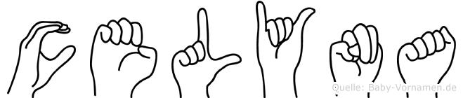 Celyna im Fingeralphabet der Deutschen Gebärdensprache