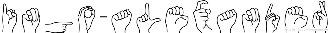 Ingo-Alexander im Fingeralphabet der Deutschen Gebärdensprache