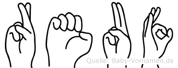 Reuf im Fingeralphabet der Deutschen Gebärdensprache
