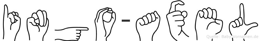 Ingo-Axel im Fingeralphabet der Deutschen Gebärdensprache