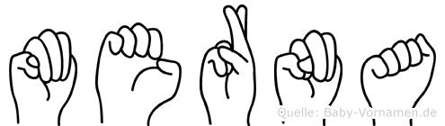 Merna in Fingersprache für Gehörlose