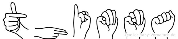 Thimna in Fingersprache für Gehörlose