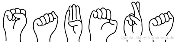 Sabera in Fingersprache für Gehörlose
