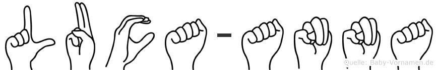 Luca-Anna im Fingeralphabet der Deutschen Gebärdensprache