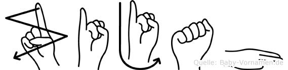 Zijah im Fingeralphabet der Deutschen Gebärdensprache