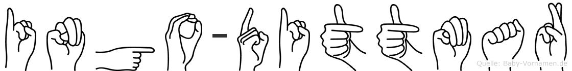 Ingo-Dittmar im Fingeralphabet der Deutschen Gebärdensprache