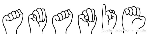 Amanie in Fingersprache für Gehörlose