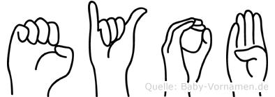 Eyob im Fingeralphabet der Deutschen Gebärdensprache