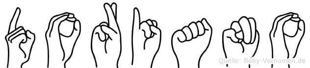 Doriano im Fingeralphabet der Deutschen Gebärdensprache