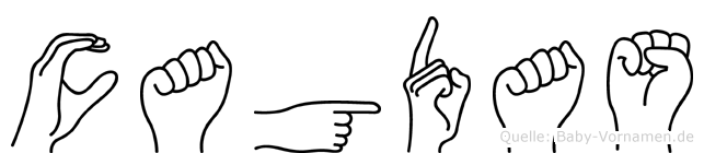 Cagdas im Fingeralphabet der Deutschen Gebärdensprache