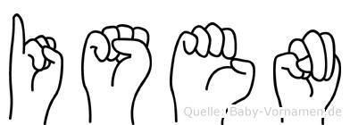 Isen in Fingersprache für Gehörlose