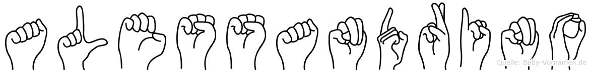 Alessandrino in Fingersprache für Gehörlose