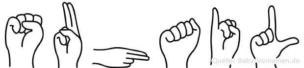 Suhail im Fingeralphabet der Deutschen Gebärdensprache