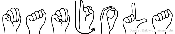 Manjola in Fingersprache für Gehörlose