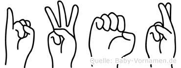 Iwer in Fingersprache für Gehörlose