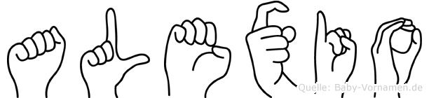 Alexio in Fingersprache für Gehörlose
