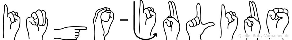 Ingo-Julius im Fingeralphabet der Deutschen Gebärdensprache
