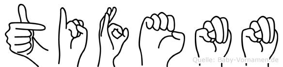 Tifenn im Fingeralphabet der Deutschen Gebärdensprache