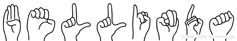 Bellinda im Fingeralphabet der Deutschen Gebärdensprache