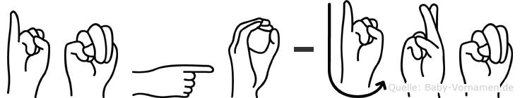 Ingo-Jörn im Fingeralphabet der Deutschen Gebärdensprache