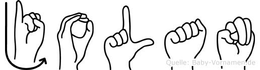 Jolan im Fingeralphabet der Deutschen Gebärdensprache