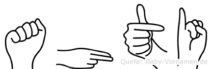 Ahti in Fingersprache für Gehörlose