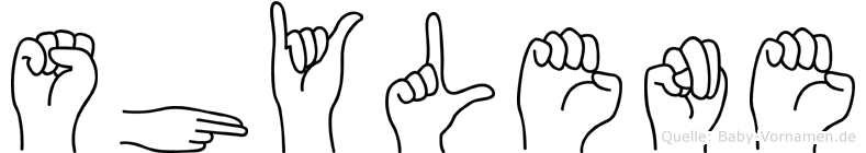 Shylene in Fingersprache für Gehörlose