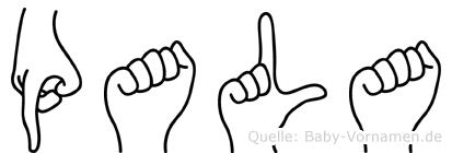 Pala im Fingeralphabet der Deutschen Gebärdensprache