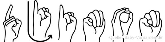 Djimon in Fingersprache für Gehörlose
