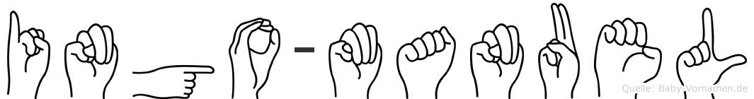 Ingo-Manuel im Fingeralphabet der Deutschen Gebärdensprache