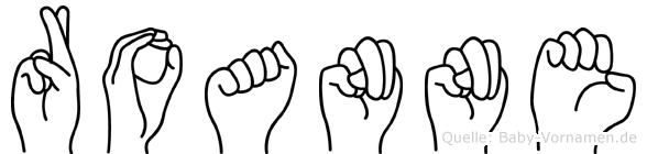 Roanne im Fingeralphabet der Deutschen Gebärdensprache