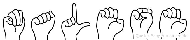Malese in Fingersprache für Gehörlose