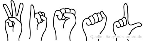 Wisal im Fingeralphabet der Deutschen Gebärdensprache