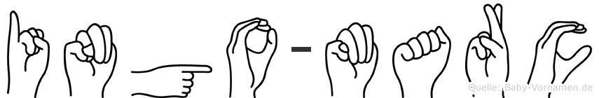 Ingo-Marc im Fingeralphabet der Deutschen Gebärdensprache