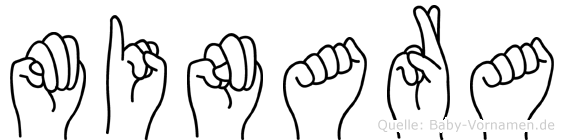 Minara in Fingersprache für Gehörlose
