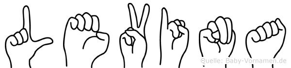 Levina im Fingeralphabet der Deutschen Gebärdensprache