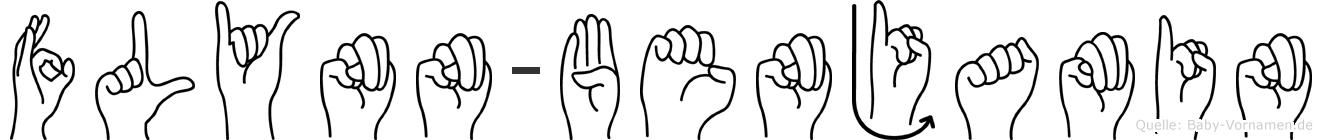 Flynn-Benjamin im Fingeralphabet der Deutschen Gebärdensprache