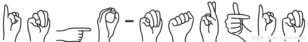 Ingo-Martin im Fingeralphabet der Deutschen Gebärdensprache