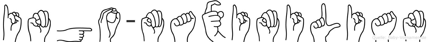Ingo-Maximilian im Fingeralphabet der Deutschen Gebärdensprache