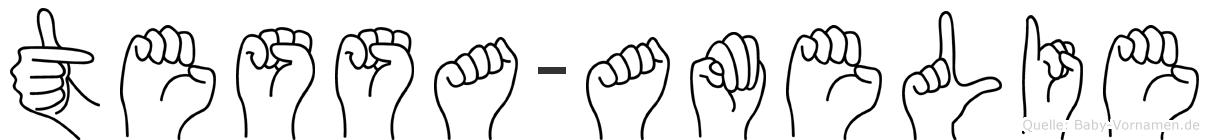 Tessa-Amelie im Fingeralphabet der Deutschen Gebärdensprache